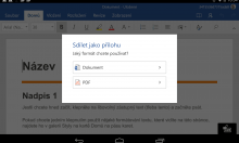 Microsoft Office pro Android s exportem do PDF