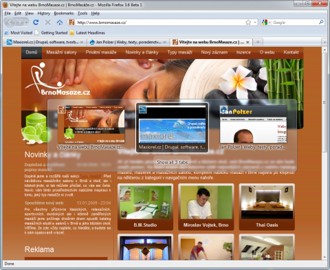 Firefox 3.6 ve Windows 7