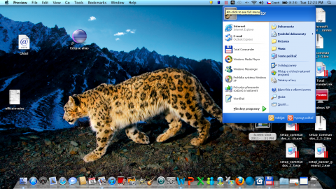 Parallels Desktop 6 a nabídka Start z Windows XP