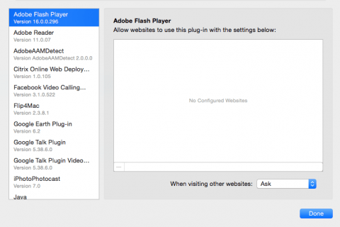 Flash a Click to play v Safari