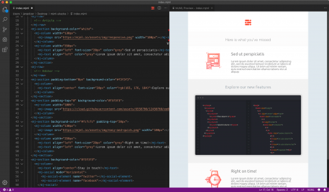MJML a ve Visual Studio Code